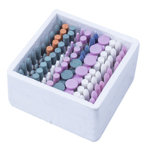 Dental 100 PCS Mixed Dental Lab Gravel Ceramic Thick Mounted Point Burs Polisher New Type