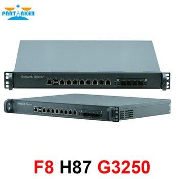 1U network Firewall Router System with 8 ports Gigabit lan 4 SPF Intel G3250 3.2Ghz Mikrotik PFSense ROS Wayos 4G RAM 64G SSD