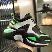 Buy Women's Brand Thick-Soled Genuine Leather Luxury Sports Shoes Fall New Fashion Comfortable Breathable Mesh Yarn Casual Shoes directly from merchant!