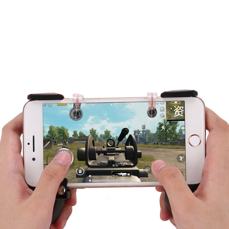 Mobile Game Controller Shooter Joystick Gamepad Trigger Aim Button For  iPhone Android Phone Game Pad Accessory-in Gamepads from Consumer  Electronics