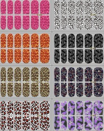Nail polish sticker NEWEST 122+ styles,12pcs/set ,Nail patch sticker  Nail stickers