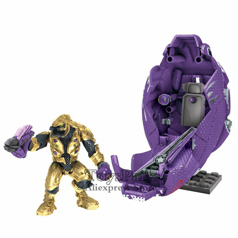 US $15 99 |HALO Covenant Drop Pod Combat Zealot Elite Ultra Building Action  Figure Toys MEGA BLOKS Set 10 Years Armory Build Customize NEW-in Action &