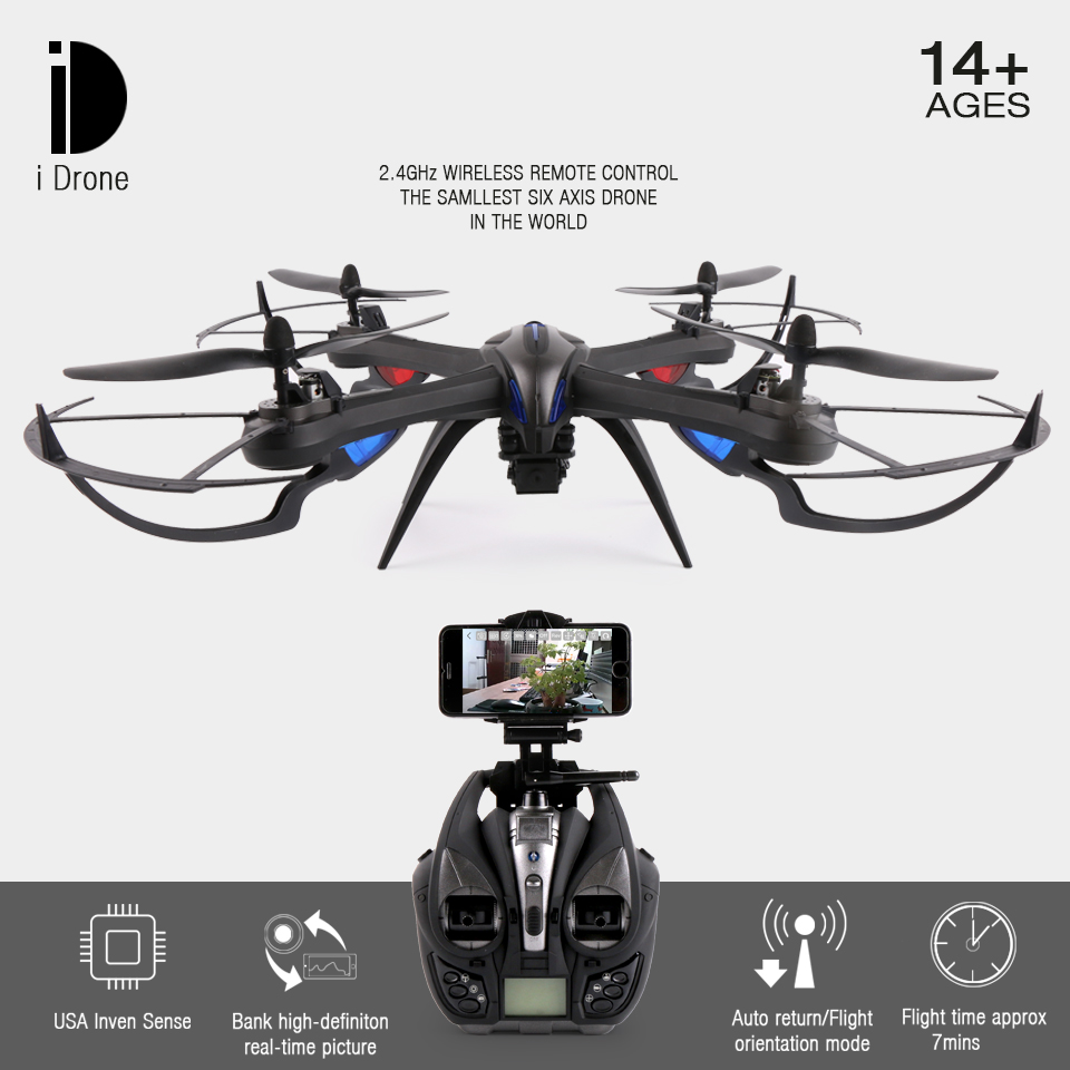YiZhan X8H JJRC X8H FPV RC Quadcopter Altitude Hold Drone With Wifi Camera 2.4G 6 Axis RC Helicopter Dron VS JJRC H8C jjrc h39wh h39 foldable rc quadcopter with 720p wifi hd camera altitude hold headless mode 3d flip app control rc drone