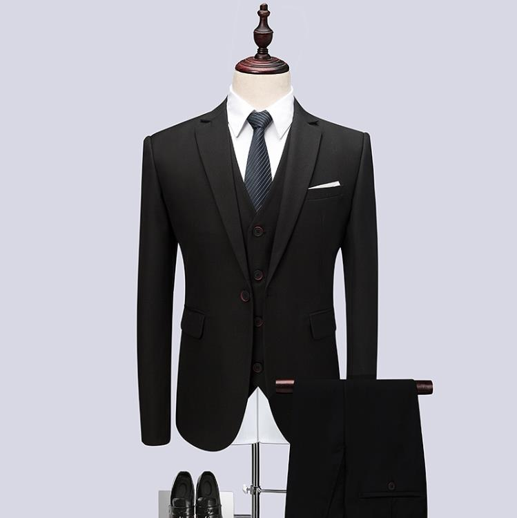 2019 Mens Black Classic Smoking Suits Fashion Party Mens Slim Skinny Suits Business Men Grooming Custom Tuxedos 3 Pieces Suits 4