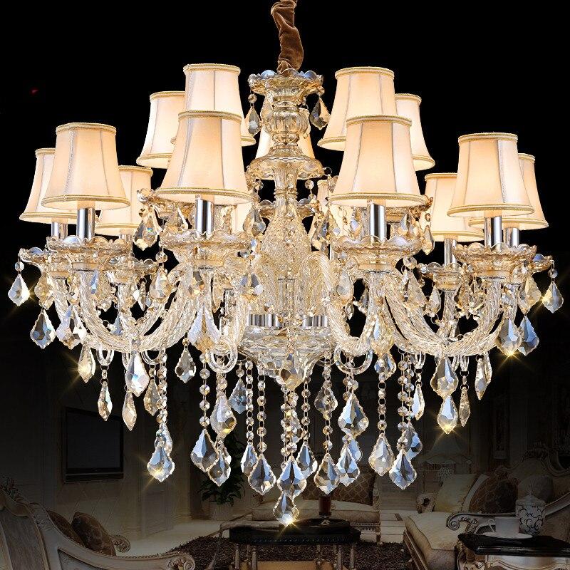 Luxusní lustrové světlo pro vnitřní osvětlení Osvětlení Ložnice Kuchyň Jídelna Lustr luster de cristal para sala de jantar