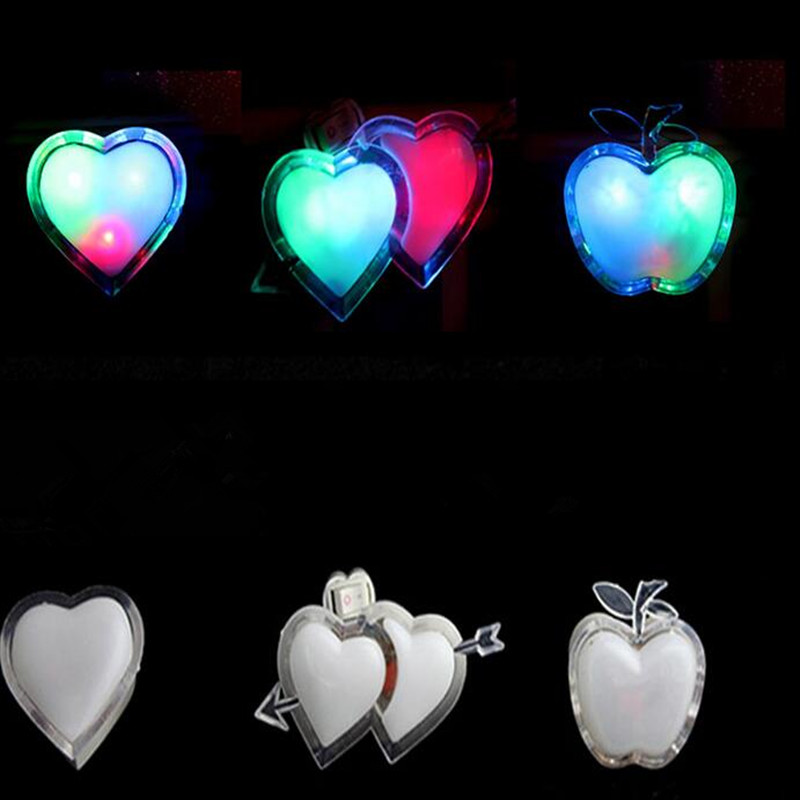 2018 Heart Moon Energy Saving Light Control Night Light EU Plug Indoor Wall Decoration Glow Party Christmas Navidad New Year