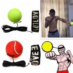 Mayitr Neue Kampf Boxeo Ball Boxing Ausrüstung Mit Kopf Band Für Reflex Geschwindigkeit Training Boxing Punch Muay Thai Übung Gelb /rot
