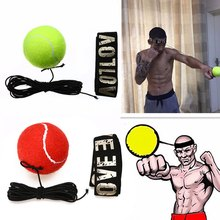 Mayitr New Fight Boxeo Ball Boxing Equipment With Head Band For Reflex Speed Training Boxing Punch Muay Thai Exercise Yellow/Red(China)