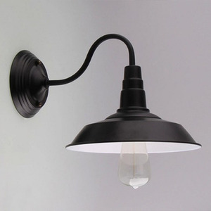 Image 2 - Vintage Wall Lamp Led Light E27 Edison light Loft Retro Iron Paint American Old Style Simplicity Black Pot Cover with Lamp Shade