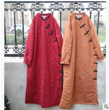 In the winter of 2016 new products, high-end loose big yards corduroy women's original design  cotton-padded clothes цена и фото