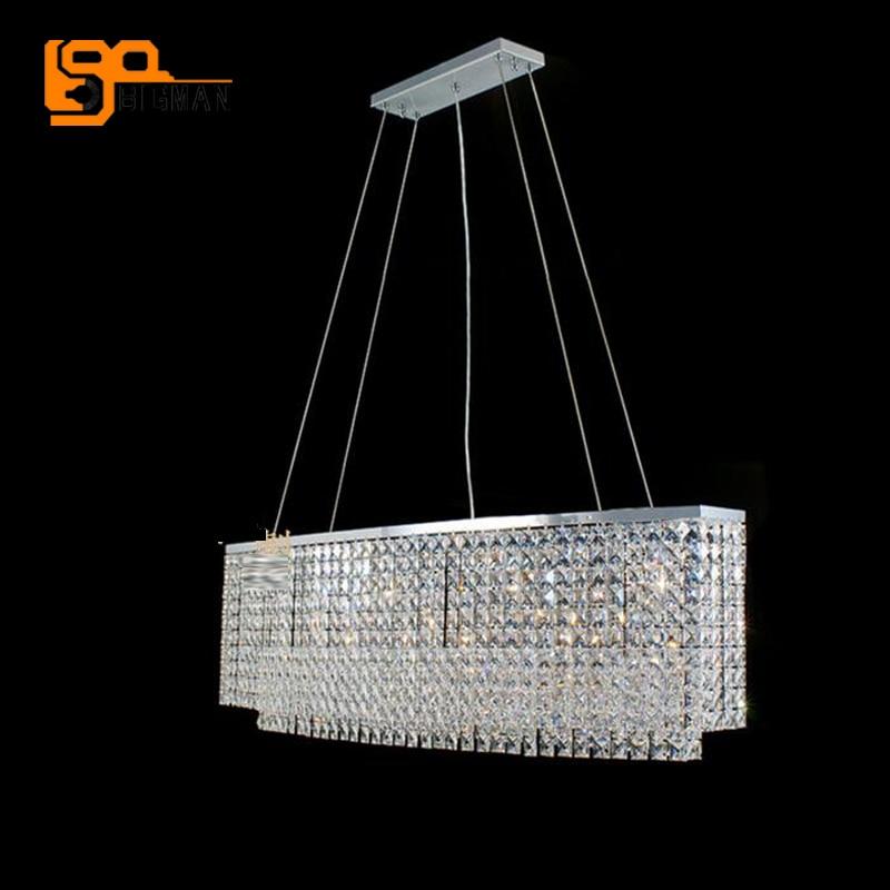 Neue Ovalen Kristall Kronleuchter Moderne Esszimmer Wohnzimmer Lampe Lnge 100 CmChina
