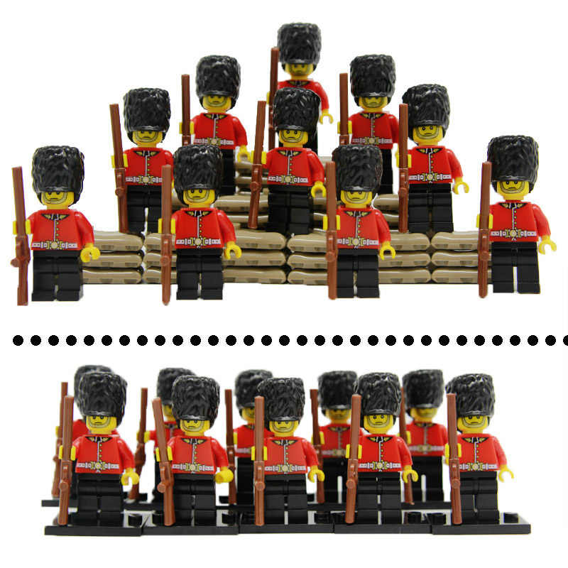 Military Police Figures Building Blcoks Soldier Household Guards Division of the British Army with Weapons Blocks Kids Toys