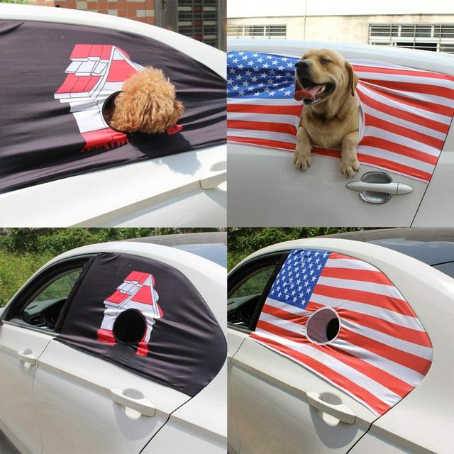 Pet Dog Car Window  Curtain