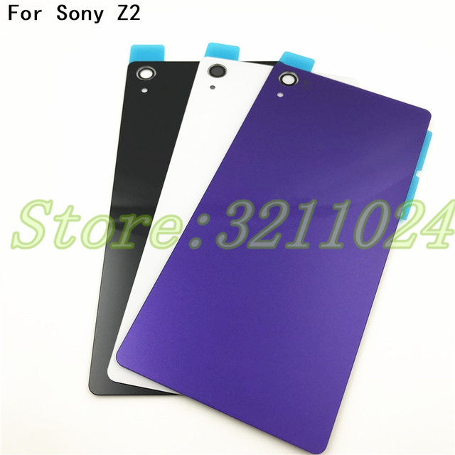 the latest 955a7 d0eae US $3.19 5% OFF|Aliexpress.com : Buy For Sony Xperia Z2 D6543 L50W D6503  Back Glass Battery Door Housing Rear Back Cover Replacement Spare Parts  from ...