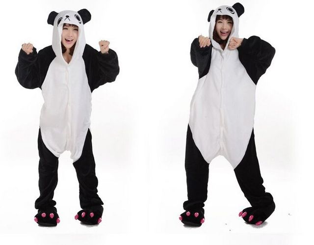 4456e7ede36a Drôle Adulte Kung Fu Panda Onesies Animaux Pyjamas Costumes One Piece Nuit  Homedress Kugurumi deguisement adultes