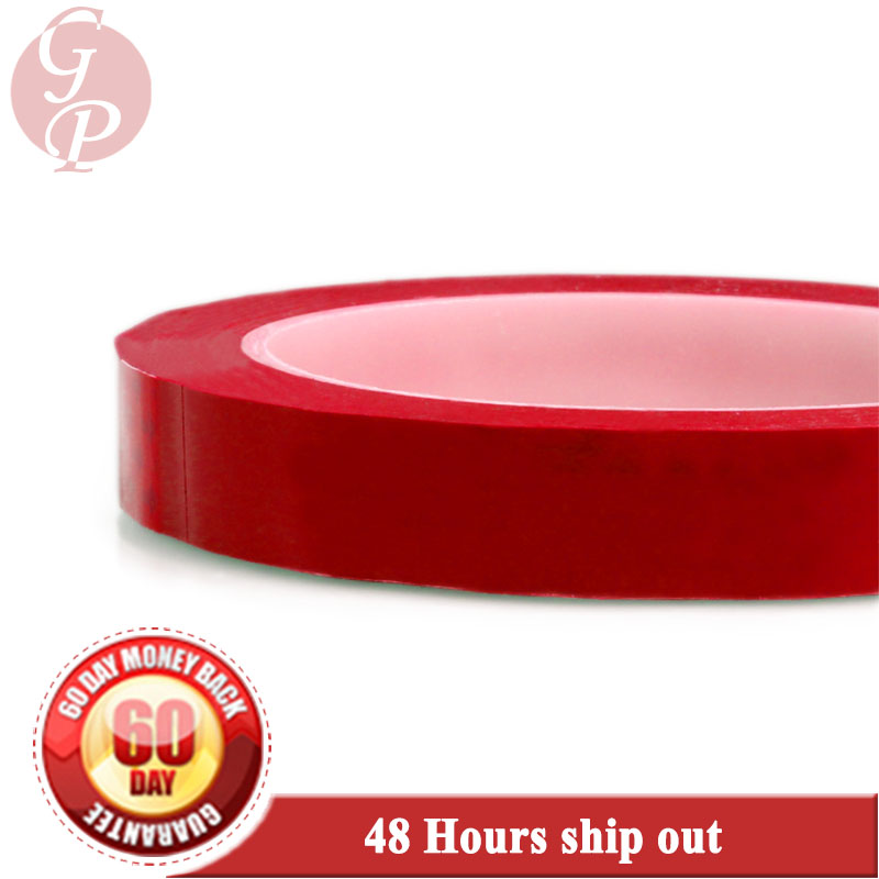 55mm width*66 Meters length Red Single Side Adhered Insulated Mylar Tape for capacitors, Packing 85mm 33 meters 0 08mm single side high