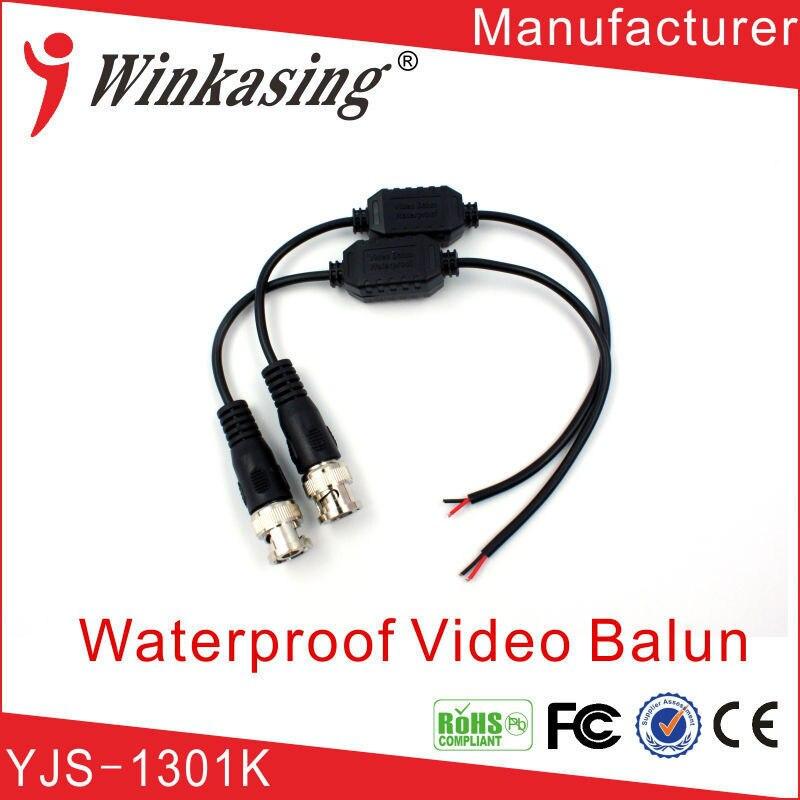Single Channel Waterproof CCTV  Video Balun UTP video Transceiver single channel passive video balun grey silver 2 pcs