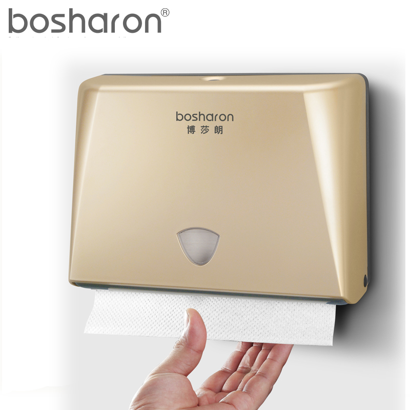 Wall Mounted Tissue Box Bathroom On Abs Plastic Holder Dispenser Hanging Type White Gold Color For