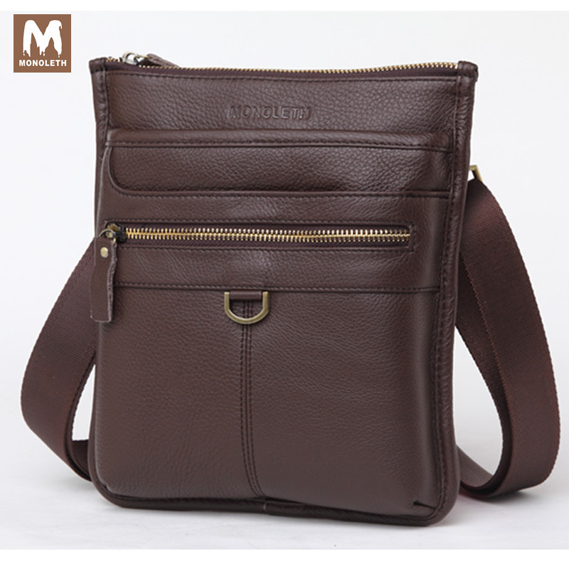 MONOLETH Genuine Leather Business Men's Bags for gift Messenger Bags,Shoulder Bag for Man Sacoche Homme Bolsa Masculina  5008 cow genuine leather messenger hand bags men casual travel business crossbody shoulder bag for man sacoche homme bolsa masculina