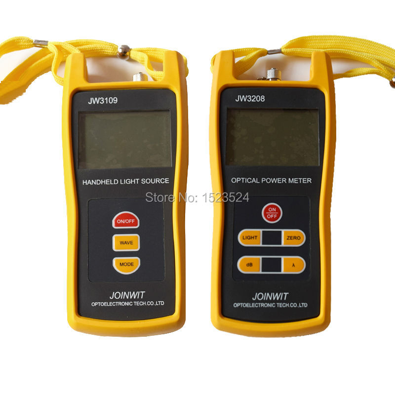 Fiber Optical Multimeter -50~+26dBm JW3208C Handheld Optical Power Meter With JW3109 Optical Light Source 1310/1550nm
