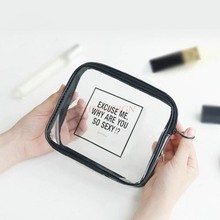 Makeup Package Transparent Cosmetic Bag Large Capacity Small Simple Mini Portable Multi Function Waterproof Travel Wash Bags недорого