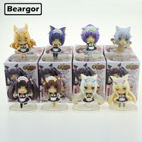 8pcs Neko Para Nekopara Cats Paradise Trading Solid set Boxed Cute 6cm Mini PVC Anime Action Figure Model Doll Toys Gift
