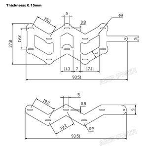 Image 4 - W type nickel strip 18650 battery pure nickel tab 10P or 5P W shaped nickel belt 18650 Cylindrical lithium battery nickel busbar