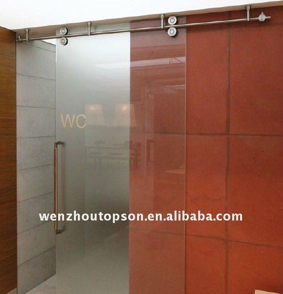 Door partition frameless kitchen glass sliding door for Door partitions sliding
