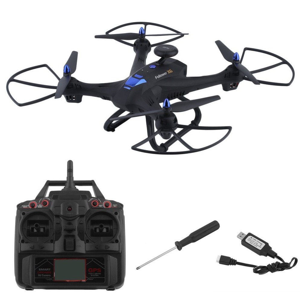 X183 Wifi Drone With 2MP HD Camera Portable GPS Quadcopter 6-Axles RC Quadcopter Compact Photography Video Device