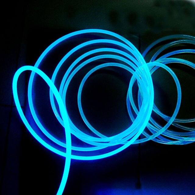 3mm vaste kern kant gloed glasvezel licht kabel voor indoor novelty verlichting decoratie