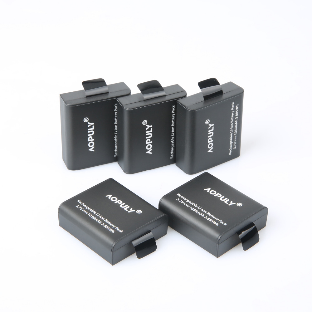 AOPULY 5Pc/lot Action Camera <font><b>Battery</b></font> PG1050 For SJCAM SJ4000 SJ5000 SJ6000 SJ8000 EKEN 4K H8 H9 GIT-LB101 GIT <font><b>PG900</b></font> 1050 <font><b>BATTERY</b></font> image