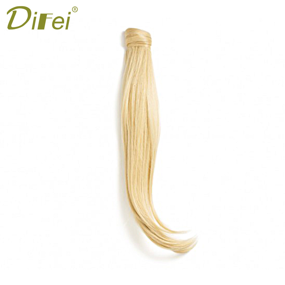 DIFEI 24 '' Lång Straight Clip In Hair Tail False Hair Ponytail - Syntetiskt hår - Foto 4