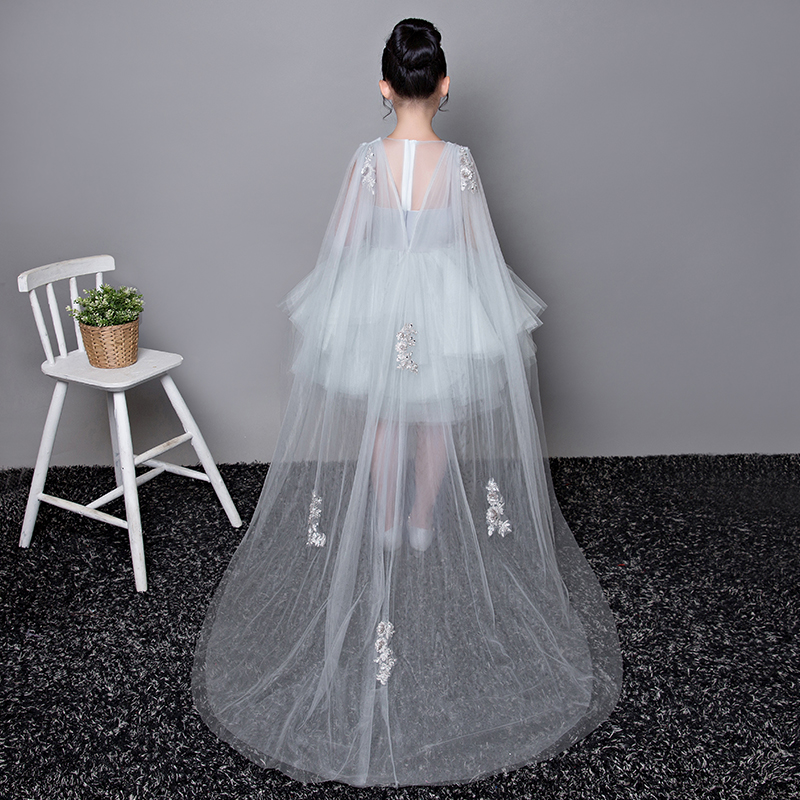 Luxury Flower Dress Trails Ball Gown First Communion Dresses Kids Pageant Princess For Wedding Party Gowns E268 In From Mother
