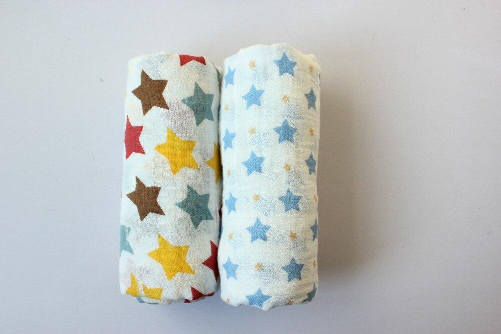 Swaddle Muślin Cotton Baby Swaddle dla noworodka Koc dla dzieci i - Pościel - Zdjęcie 3
