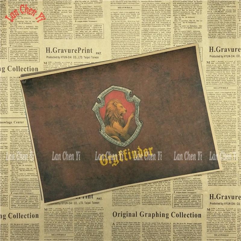 Magic Academy Academy Drawing core Classic Movie Kraft Paper Poster - Տնային դեկոր - Լուսանկար 2