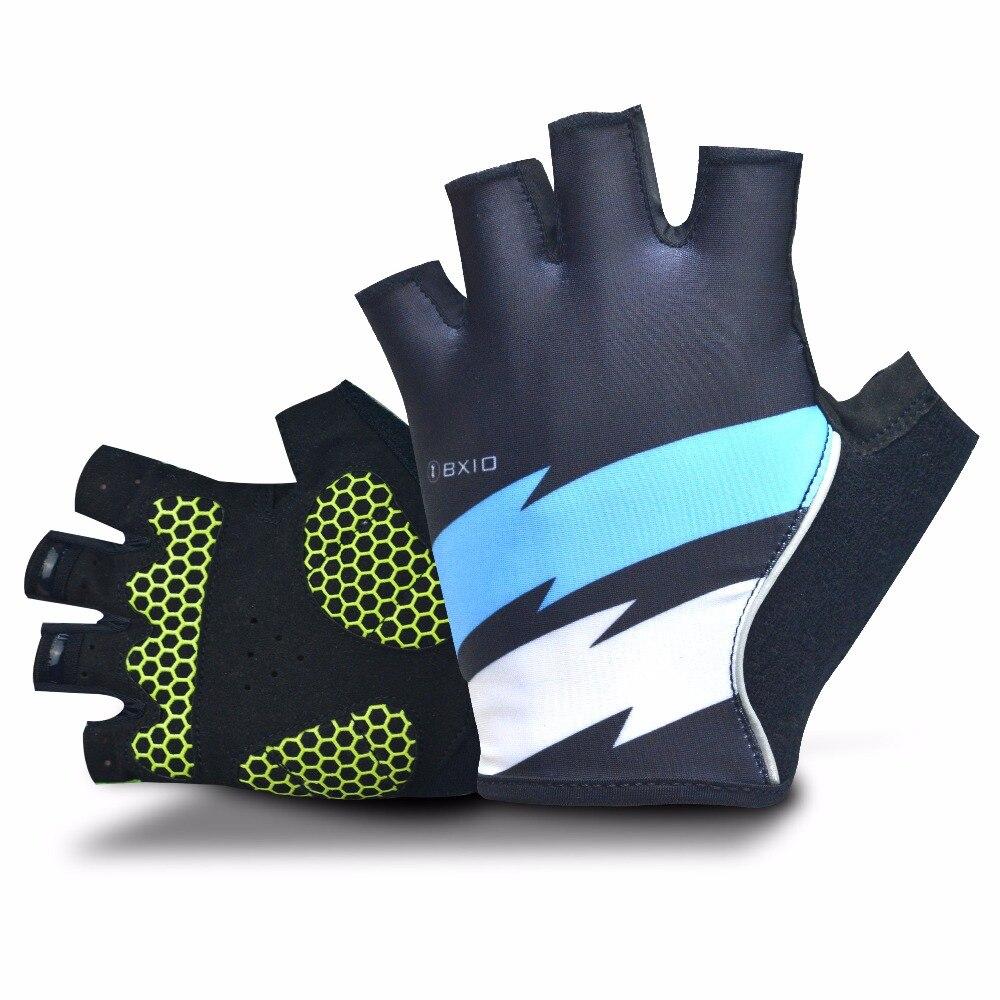 2018 BXIO Mens Cycling <font><b>Gloves</b></font> With Gel Pad Palm Pro Team Half Finger <font><b>Gloves</b></font> Summer Bike <font><b>Gloves</b></font> Support Custom Design BX-ST146