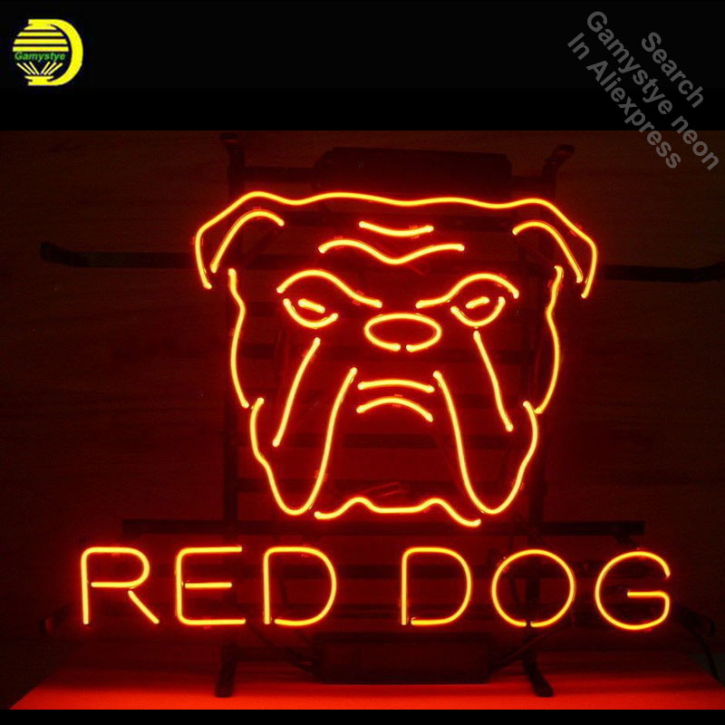 Neon Signs for Red Dog Neon Light Sign Handcrafted arcade Neon Bulb Lamps Commercial Decorate Home Display Room dropshipping