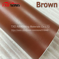 Free shipping Brown Leather Grain Vinyl Leather Pattern Vinyl Sticker Internal Decoration Size:1.52*30m/Roll