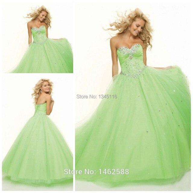 Vestido longo verde limao