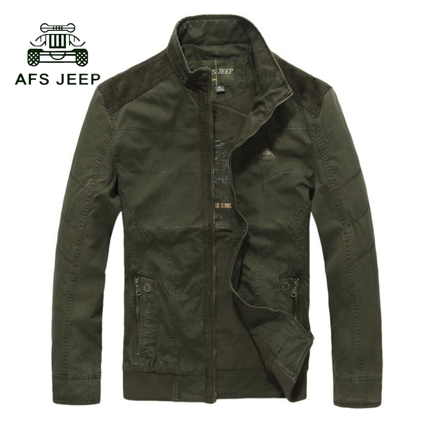 New brand clothing bomber jacket men casual military stand collar jacket mens Spring & A ...