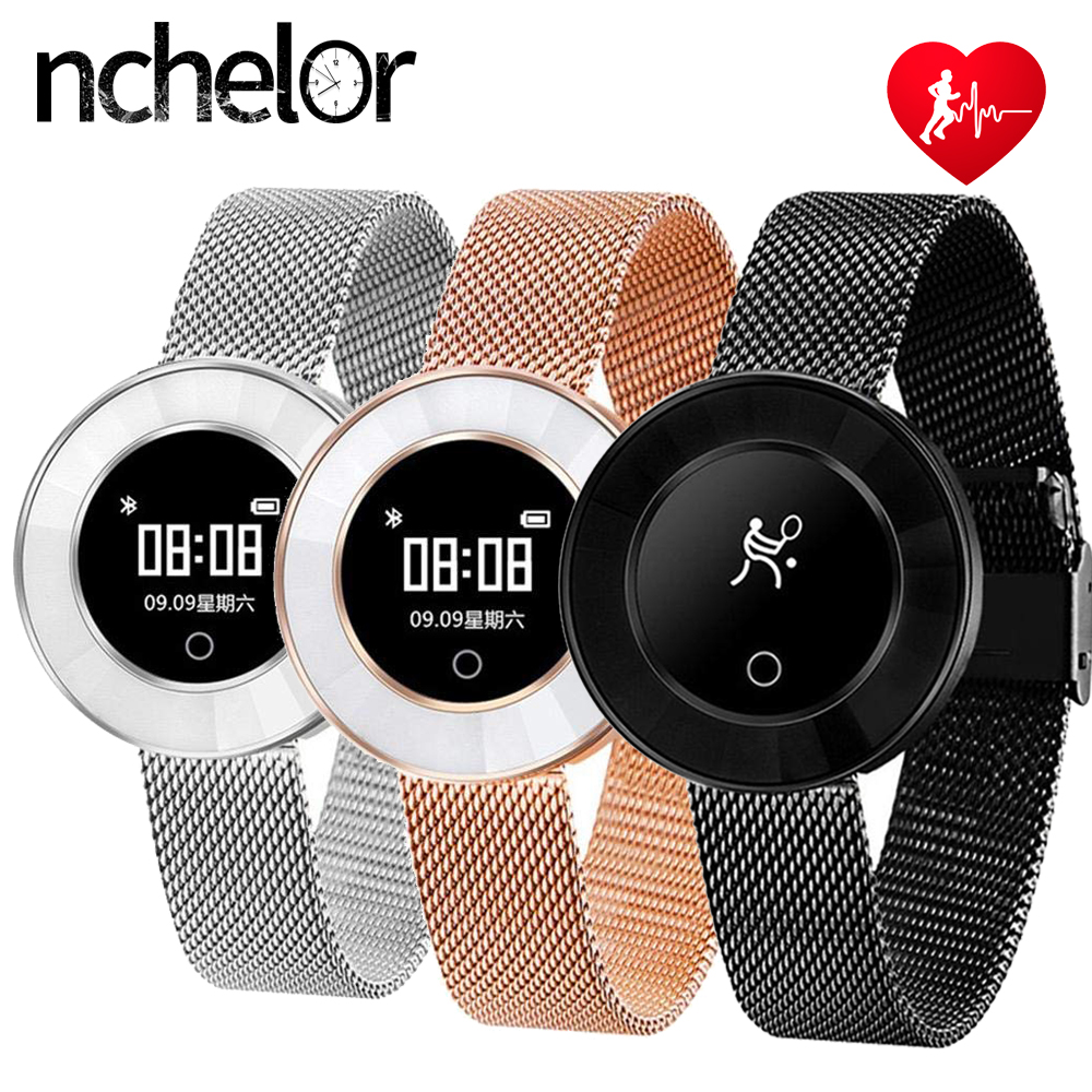 цена Smart Bracelet Heart Rate Blood Pressure Wristband Pedometer IP68 Waterproof Bluetooth Sport Fitness Women's Smart Watch