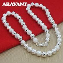 925 Jewelry Beaded Necklaces For Women Men Unisex Fashion Silver Plated Jewelry unisex necklaces 925 silver lobster clasp necklaces for women men fashion jewelry