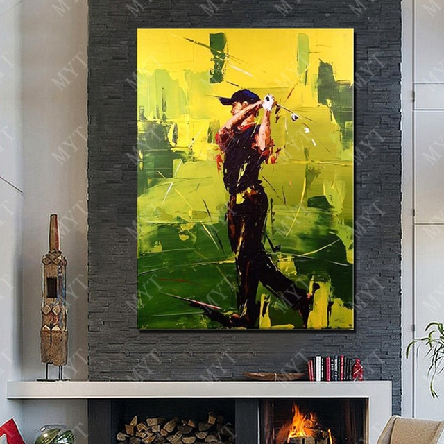 Play Golf Oil Painting Living Room Wall Pictures Large Canvas Wall ...