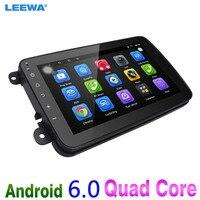 LEEWA 8inch Ultra Slim Android 6.0 Quad Core Car Media Player With GPS Navi Radio For VW Sharon/Amarok/Caddy/EOS