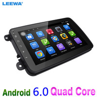LEEWA 8inch Ultra Slim Android 6.0 Quad Core Car Media Player With GPS Navi Radio For VW Sharon/Amarok/Caddy/EOS