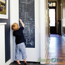 10pcs/lot Vinyl Chalkboard Wall Stickers Removable Blackboard Decals Great Gift for Kids 45CMx200CM with 5 Free Chalks