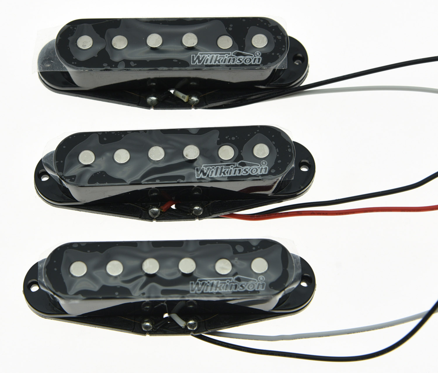 Quality Wilkinson Lic Vintage Voice Single Coil Pickups for ST Black vintage voice single coil pickups fits for stratocaster ceramic bobbin alnico single coil guitar pickup staggered pole top