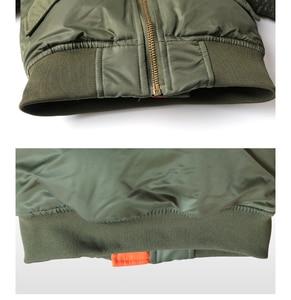 Image 4 - 2 12 yesars Children Clothes 2018 Winter Jackets For Boys Coat Kids Warm Ma 1 Bomber Flight Outerwear Coat Baby Jacket Clothing