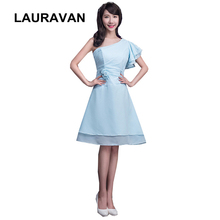 classy sexy womens short sky blue formal elegant one shoulder bridesmaid  party dresses for girls new 6f17cd3f7b56