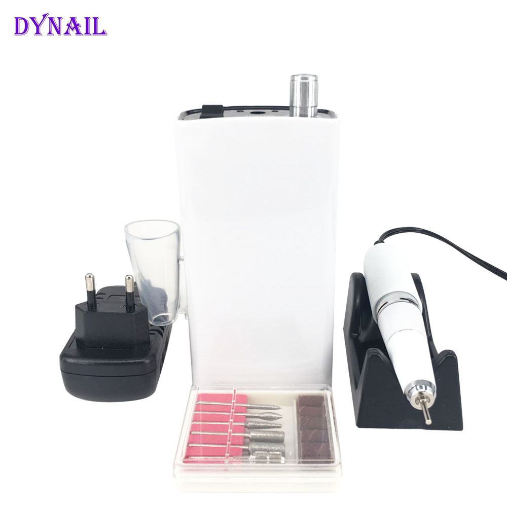 Rechargeable 30000RPM Electric Nail Drill Machine Acrylic Nail File Drill Cordless Manicure Pedicure Set Nail Polishing machine цена